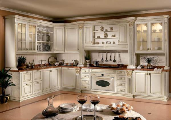 Кухня белого цвета