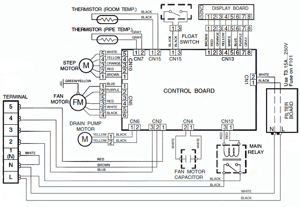 Электрическая схема кондиционера samsung