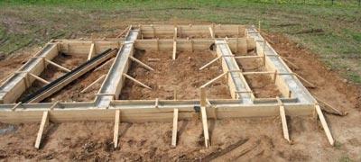 Малозаглубленный ленточный фундамент для бани