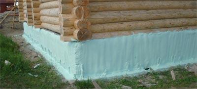 Утепление фундамента деревянного дома
