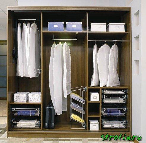 Шкафы купе внутреннее наполнение фото