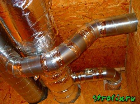 Устройство вентиляции воздуха в деревянном доме