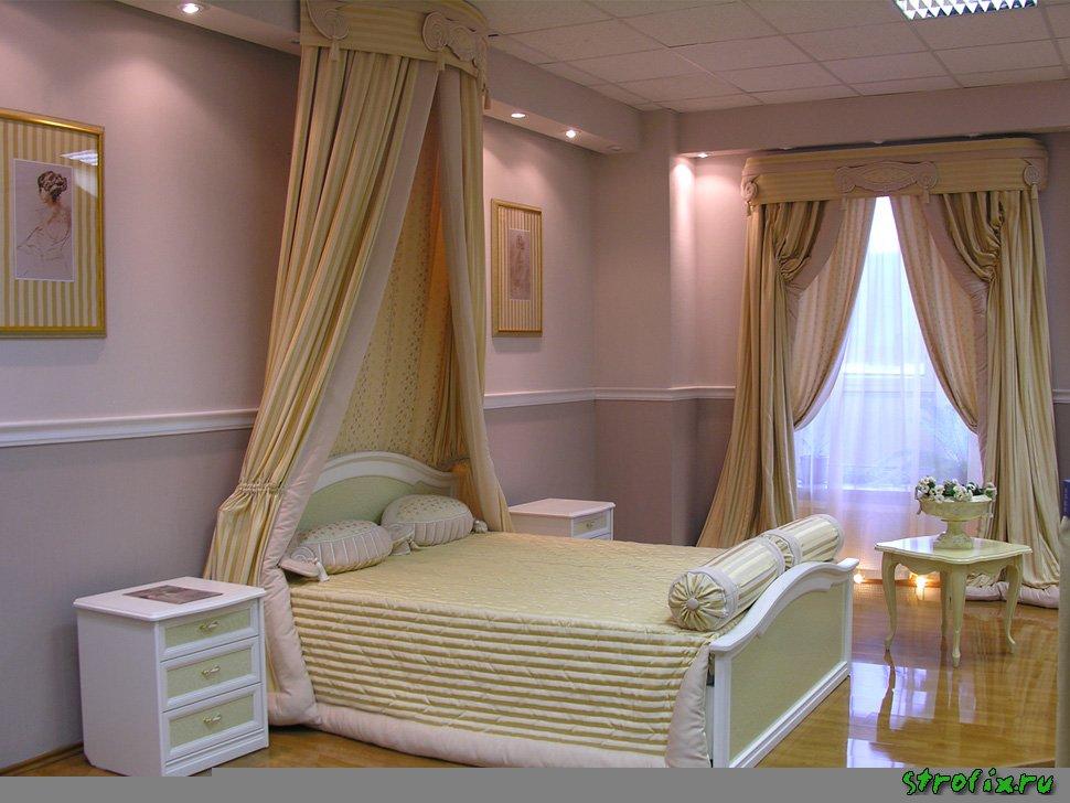 Дизайн занавесок в спальню современный