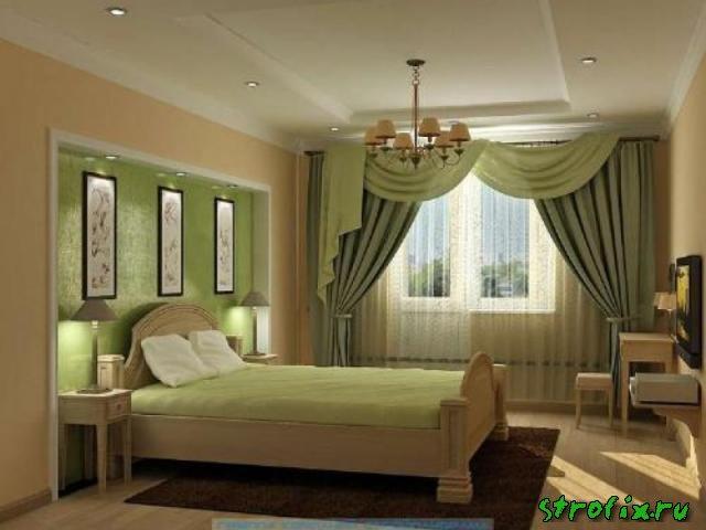 Дизайн штор для спальни с фото
