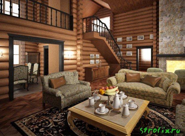 Современный деревянный дом интерьер фото