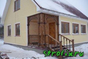 Крыльцо деревянного дома фото и видео